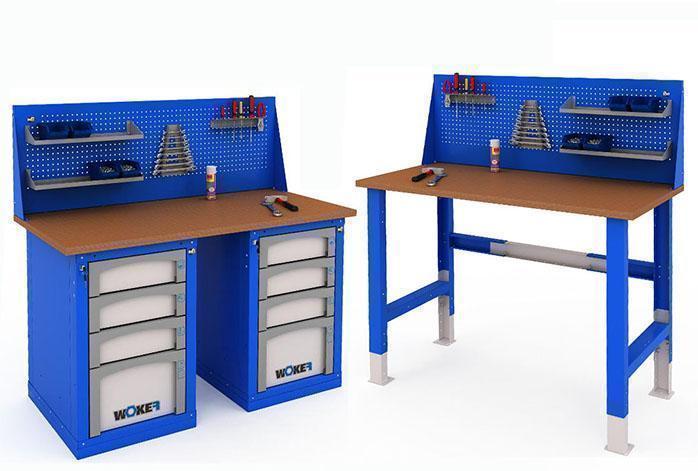 Рабочие места серии WOKER на базе столов и верстаков