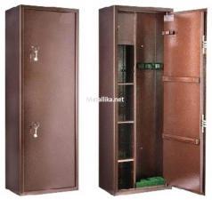 Оружейный  металлический сейф шкаф КО-032т купить по низкой цене в СПб, скидки, акции , дешево, недорого