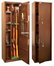 Оружейный  металлический сейф шкаф КО-038т купить по низкой цене в СПб, скидки, акции , дешево, недорого