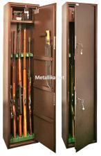 Оружейный  металлический сейф шкаф КО-039т купить по низкой цене в СПб, скидки, акции , дешево, недорого