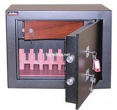Пистолетный  металлический сейф шкаф  М28м ор  купить по низкой цене в СПб, скидки, акции , дешево, недорого