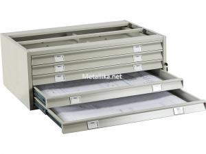 Шкаф - картотека металлический ПРАКТИК A0-05/2(промежуточная секция) недорого в СПб