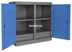 Шкаф- Антресоль инструментальная PROFFI ПЯ2П4 металлический дешево в спб скидки