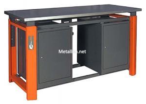 слесарный верстак металлический двухтумбовый ТВР1200/1500/1800 (ТВ0-ТВ0) купить недорого