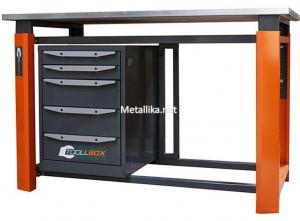 слесарный верстак металлический однотумбовый ТВР1200/1500/1800 (TB5) купить дешево