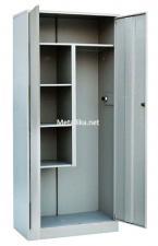 шкаф металлический для хозинвентаря двухдверный(цельносварной) купить дешево