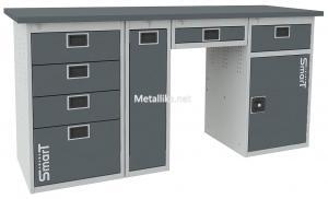 слесарный металлический верстак SMART 1760.4.P.Y.1-1 купить недорого