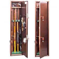 Оружейный  металлический сейф шкаф КО-033т купить по низкой цене в СПб, скидки, акции , дешево, недорого