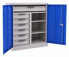 Шкаф инструментальный ERGO 181/2 №10 металлический недорого со скидкой