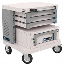 Тележка металлическая  компьютерная COMTEX №4 купить со скидкой недорого в спб