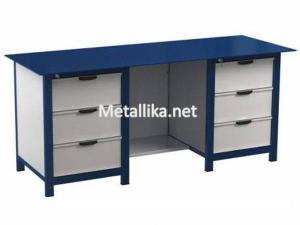 Металлический верстак слесарный  22.3М.313 купить с металлической столешницей дешево