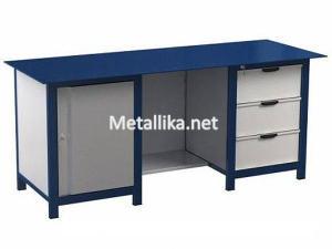Металлический верстак слесарный  22.3М.113 купить с металлической столешницей недорого