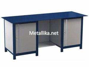 Металлический верстак слесарный  22.3М.111 купить с металлической столешницей
