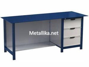 Металлический верстак слесарный  22.3М.023 купить с металлической столешницей